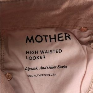 MOTHER Jeans - NEW • Mother • High Waisted Looker Pink Velour